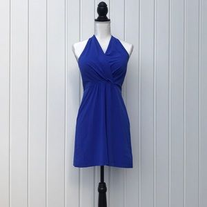 Athleta cobalt blue Halter Dress Sz 6